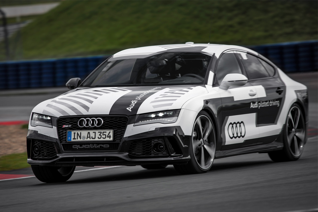 audi demos driverless rs7 concept. Black Bedroom Furniture Sets. Home Design Ideas