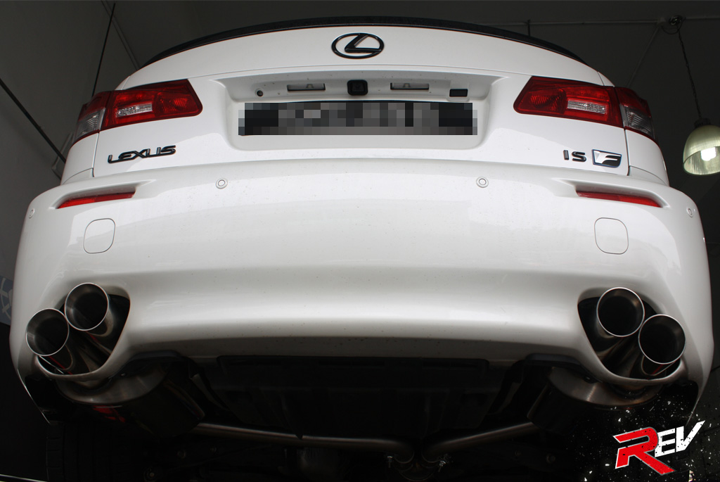 fox exhaust system for lexus is f. Black Bedroom Furniture Sets. Home Design Ideas