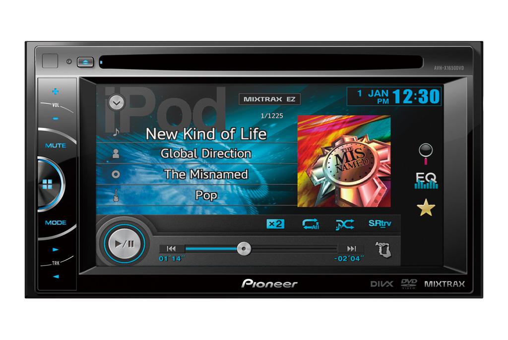 pioneer new 2014 multimedia receivers avh x1650dvd avh. Black Bedroom Furniture Sets. Home Design Ideas
