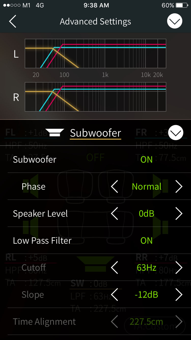 Pioneer Mixtrax Subwoofer Setting
